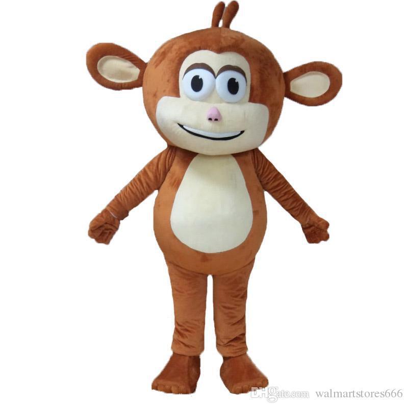 2018 heißer Verkauf schöne Charakter braun Affen Maskottchen Kostüm Kostüm Kostüm