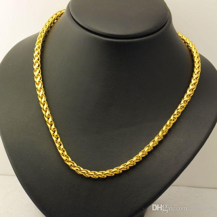 men 24k gold plated necklace, bigger chain for 2015 jewelry , bijouterie statement necklaces
