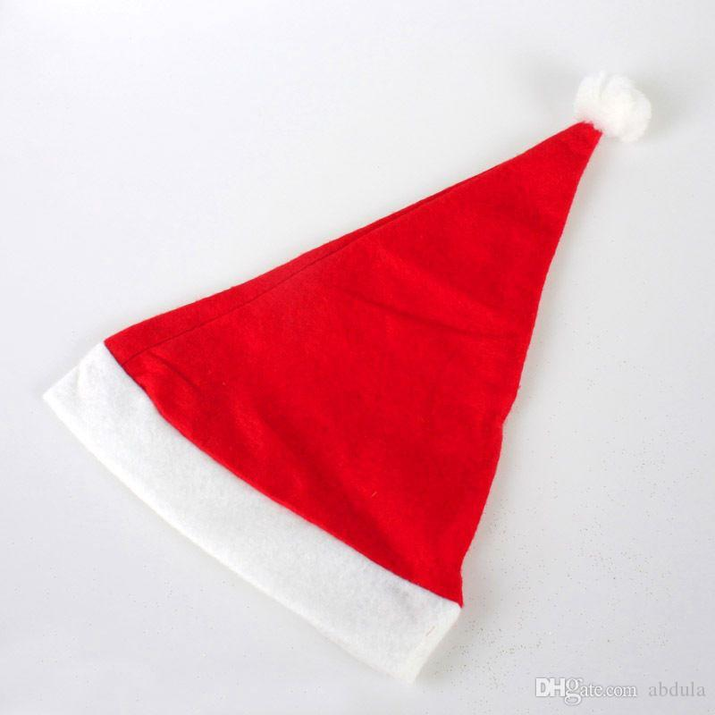 Cheap Merry Christmas Hats Santa Claus Costume Xmas Party Hat for Adults and Children 100pcs/Lot Christmas Decoration Hats Party Cosplay Hat