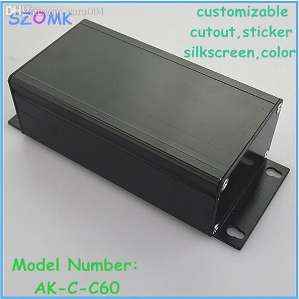 Wholesale-1 piece free shipping 45x65x120 mm aluminum extrusion electronics box , diy project junction enclosures