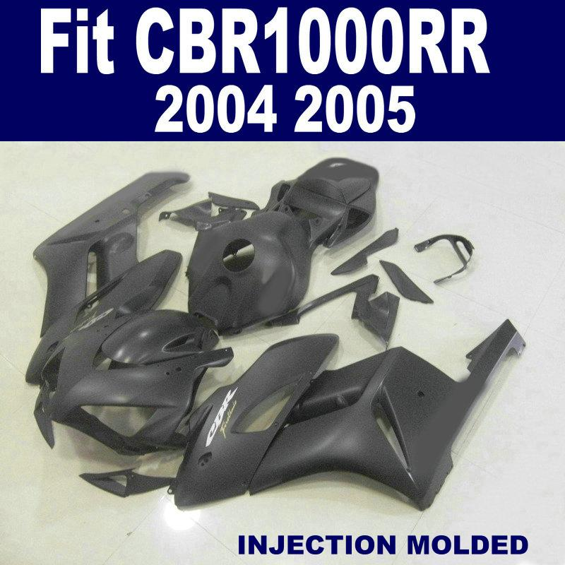 Matte Black Injectie Mold Fairing Kit voor Honda CBR1000RR 2004 2005 CBR1000 RR 04 05 CBR 1000