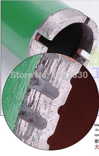 O envio gratuito de cobre soldado 30 * 450 * 8mm conector M22 brocas de diamante broca para perfuração em mármore / granito / cocrete / parede