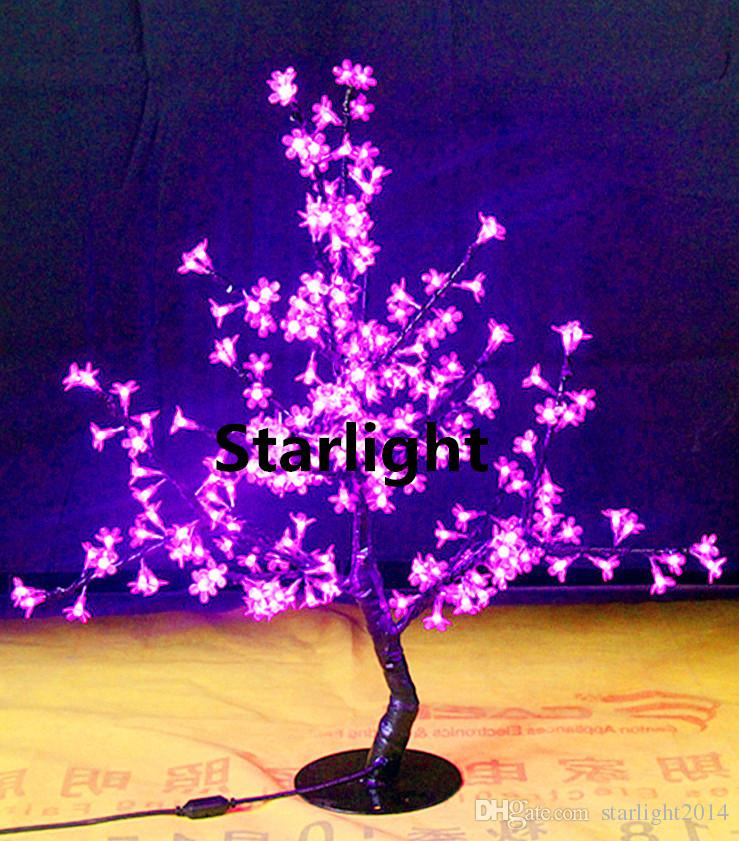 "LED Artificial Cherry Bloms Tree Light Christmas Decoration Light Outdoor Or Indoor Lamp 264pcs LEDs 1m / 39.5 "" Height Free Shipping"