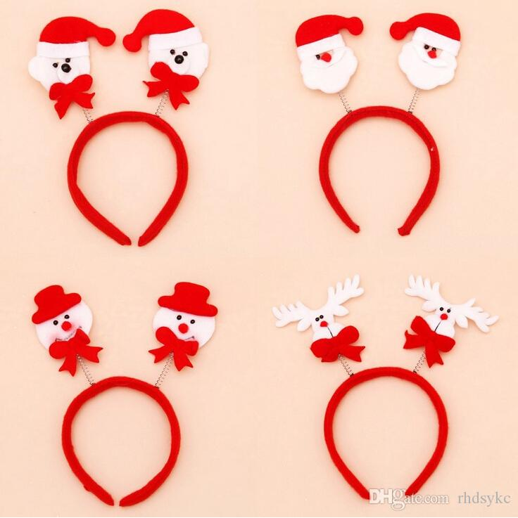 Christmas Hair Bands Santa Snowman Reindeer Bear Head Party Accessories Cute Fun Good Quality