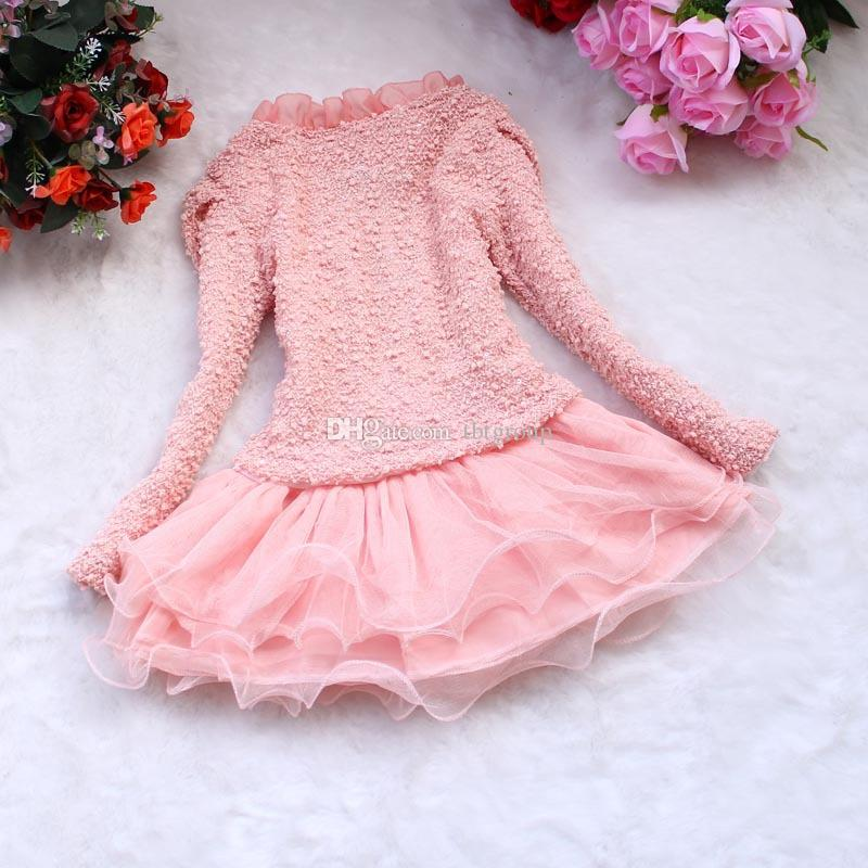 2017 Cheap Baby Girls Dress Jacket Sets Girls Winter Tops Fall ...