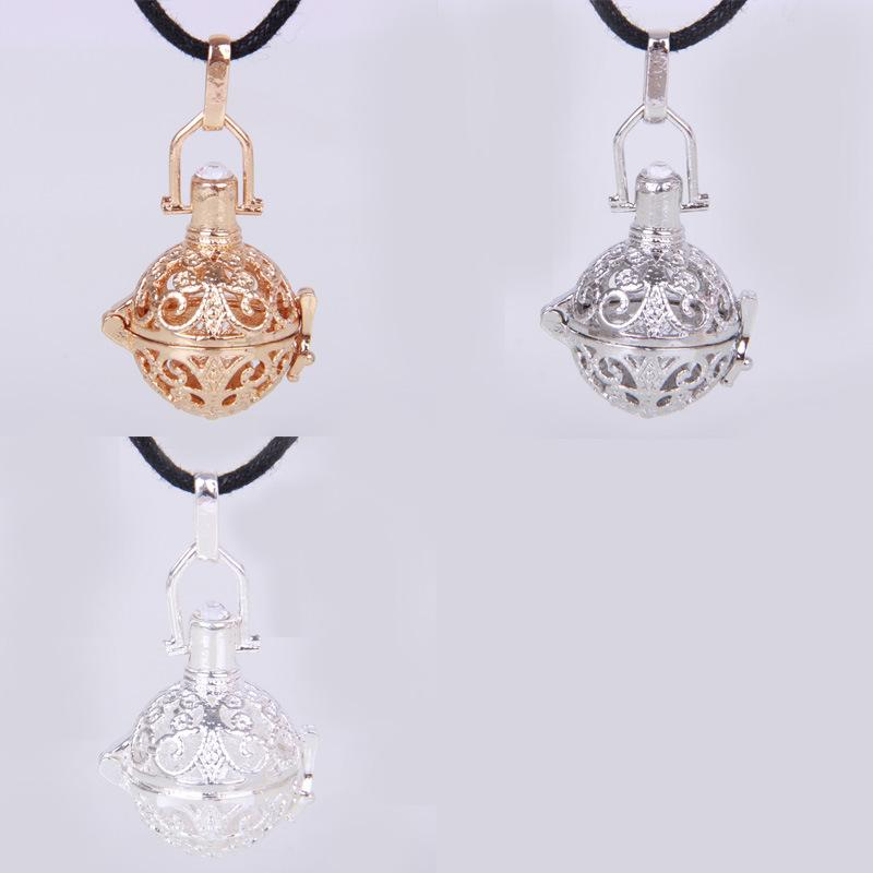 Maternity Cage Angel Ball Necklace 3 Colors Wind Chime Pendant Angel ball in Chain Necklaces Gift Wholesale