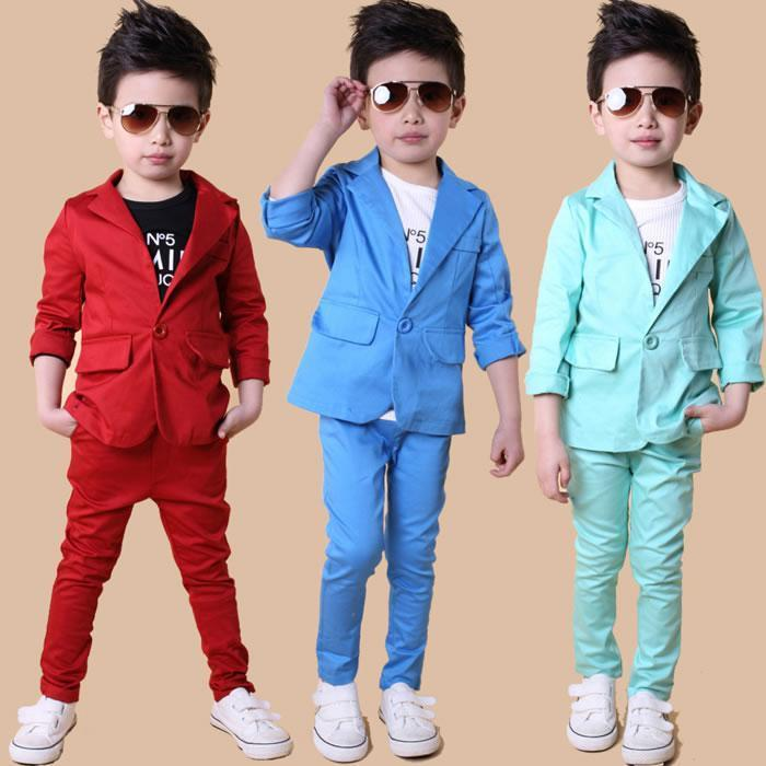 afafaf7f7a2f Modern Style Boys Suits Royal Blue Kids Tuxedos Notched Lapel Gentlemen  Graduation Party Prom Dresses for Children (Jacket+Pants+Vest+Bow)