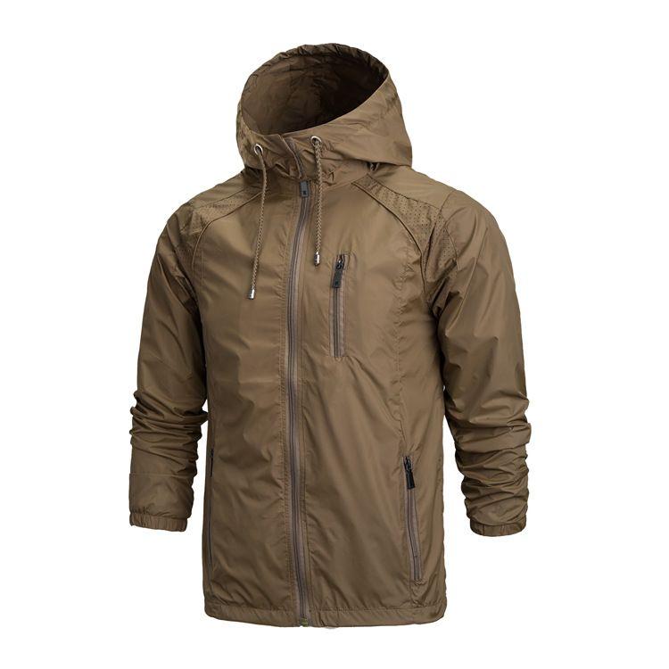 Toptan Satış - Spor Kamp Yağmur Hoodies A0123-5 için Toptan-2016 Açık Ceket Erkekler Su geçirmez Softshell Ceket Windproof Nefes Yürüyüş Ceketler