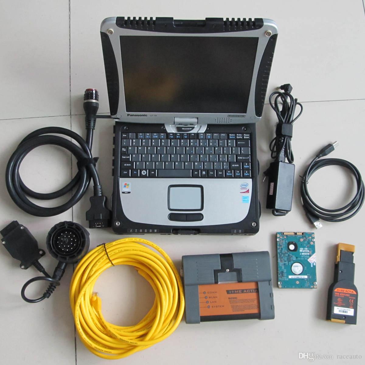 para BMW ICOM A2 B C Herramienta de diagnóstico de programación El último software en una computadora portátil CF-19 i5 4g listo para usar