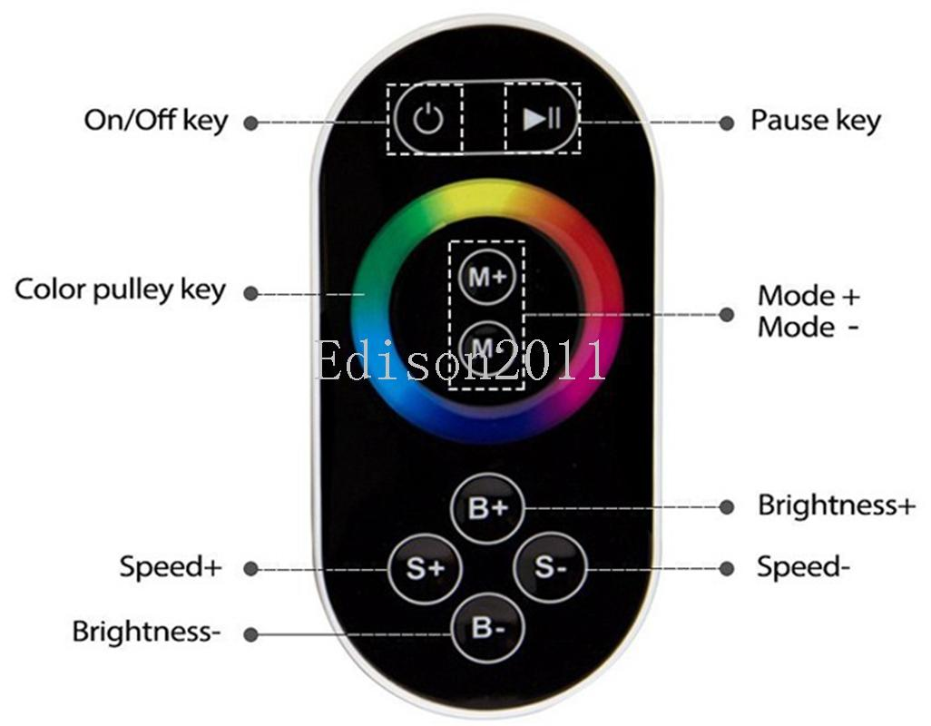 Smartphone Conrtrol WiFi 300 LPD 6803 WS2811 WS2801 LED Strip Controller Touchable Screen Remote LED Controllerr Free DHL