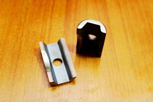 Titanium TC4 Fiets C Vouwbare scharnierklem poetsoppervlak 45.6g / paar voor fiets brompton