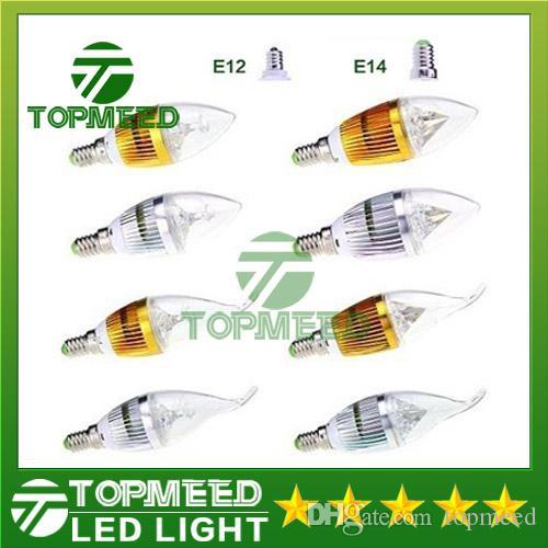 Dimmable 9w Cree led Candle plep E14 E12 E27 light high power led downlight led chandelier lighting 110-240V CE ROHS 100