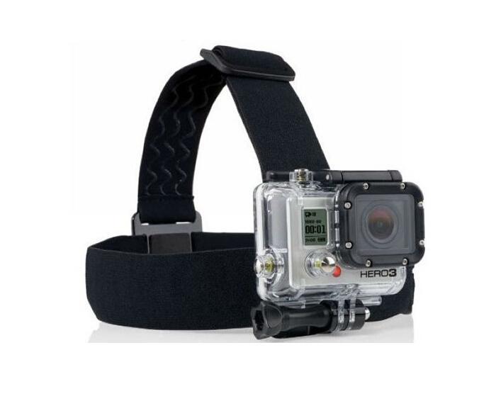 도매 새로운 액션 캠 액세서리 조절 가능한 헤드 스트랩 마운트 벨트 탄성 머리띠 스포츠 카메라 DHL을위한 최고의 액세서리 무료 배송