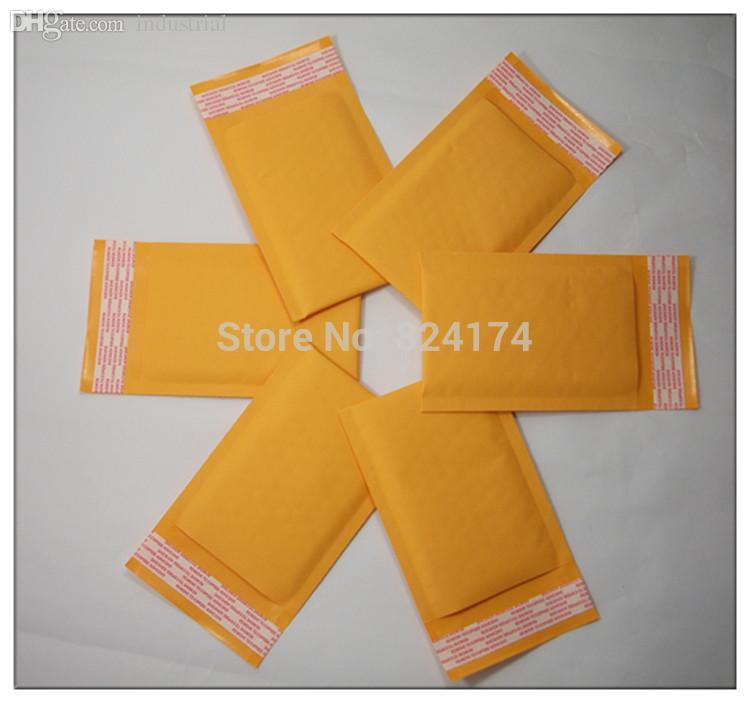 Wholesale-100PCS 9 سنتيمتر x 13 + 4 سنتيمتر نوعية جيدة / أصفر اللون كرافت ورقة كيس الهواء فقاعة / بريدية المغلف wthout الطباعة