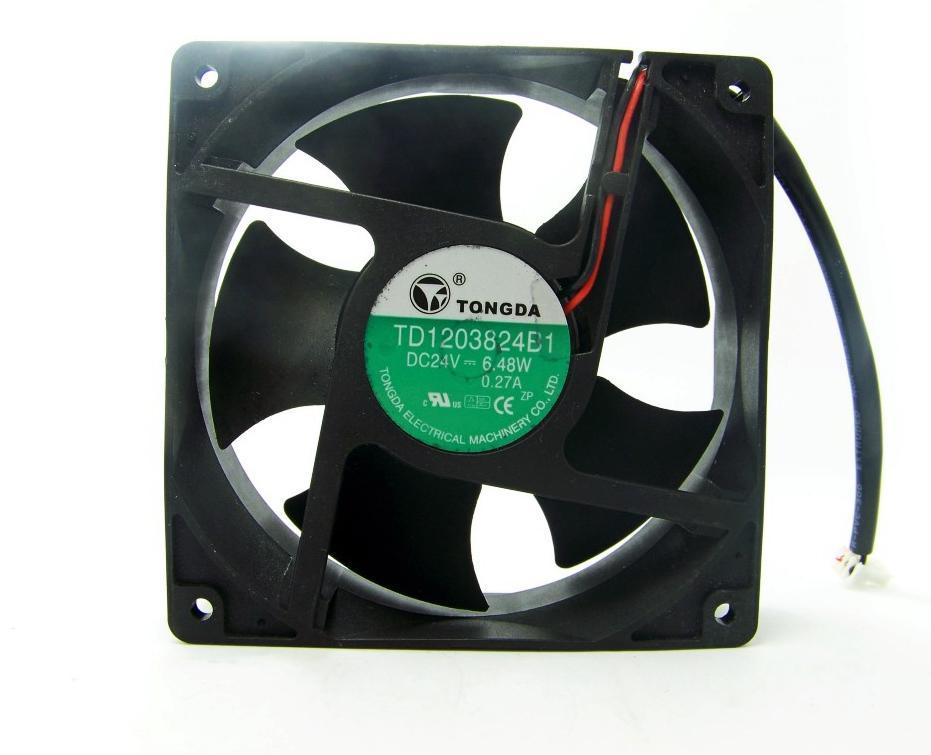 Тонда мастерство 12038 TD1203824B1 24V 6.48 W 0.27 A 12 см инвертор вентилятор охлаждения