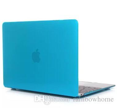 Boîtier en plastique cristal transparent avant + arrière pour MacBook Air Pro Retina 12 13.3 15.4 16 Boîte de détail de protection de protection transparente