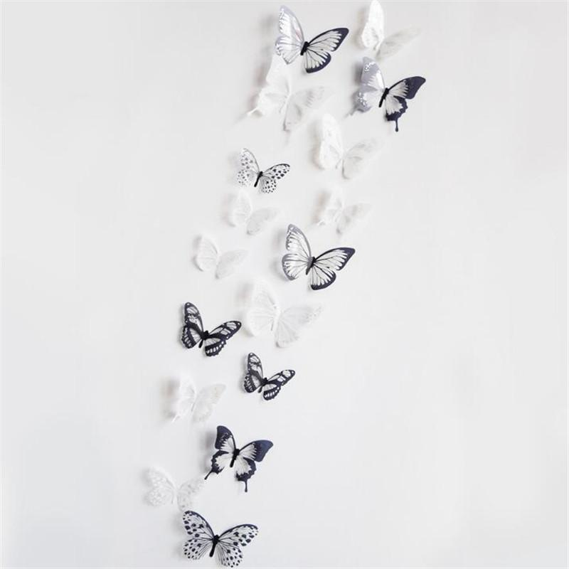 IDFIAF High quality sticker on the fridge black butterfly vine flower wallstickers kitchen decoration decals on the furniture