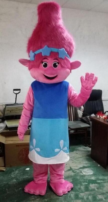 2018 высокое качество костюм талисмана тролли филиал талисман парад качество клоуны дни рождения Тролль партия необычные Dresss