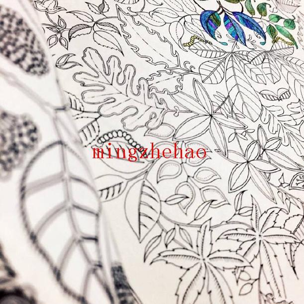 2018 New Box Secret Garden An Inky Treasure Hunt And Coloring Book For Children Adult Relieve Stress Kill Time Graffiti Painting Drawing From
