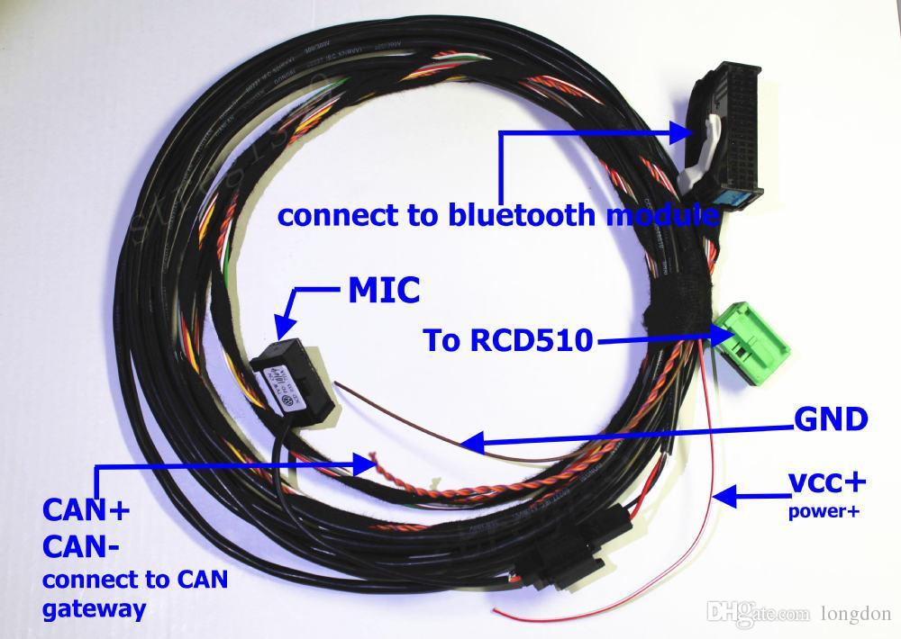 car wire harness and microphone for vw bluetooth interface module car wire harness and microphone for vw bluetooth interface module 9w2 1k8 035 730 d for rcd510 from longdon s store dhgate com
