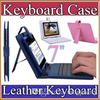 10X Optional Universal keyboard Micro USB Flip Protective Cover Tablet Leather Case For HP Slate 7 7'' 7inch Case 7-1JP