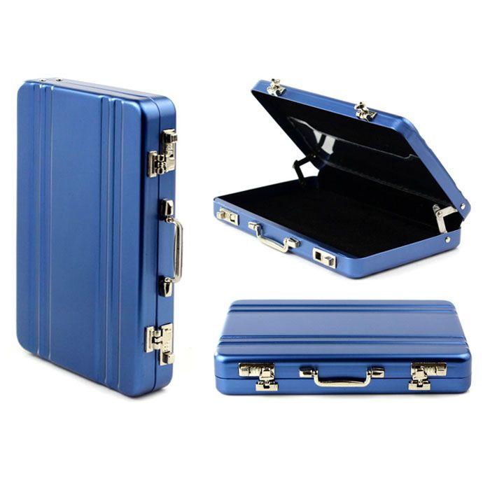 Mini Briefcase Suitcase Business Credit Card Holder Box  Aluminium Fresh Metal