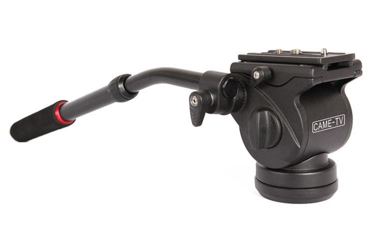 Mini Fluid Pan Tilt Video Head W/ Handle For Tripod
