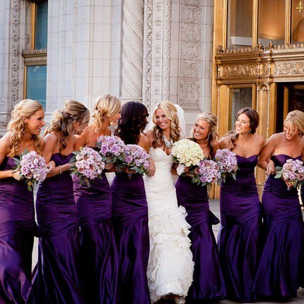 2015 Grape Taffeta Mermaid Bridesmaid Dresses Sweetheart Wedding Party Dresses with Pleats Floor Length Maid of Honor Dress