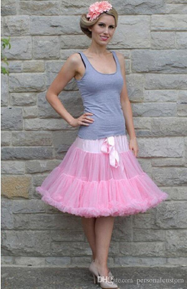 Compre 2015 Verano Nuevo 45cm Tutú Adultos Vestidos Mujeres Falda De ...