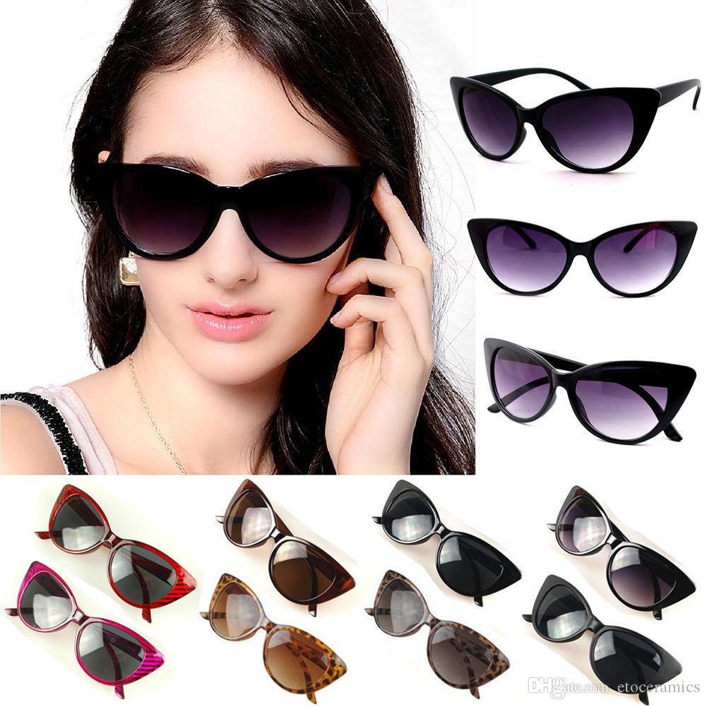 Designer gato vintage frete retro opção clássico olho grátis preto máscaras para cor 10 mulheres moda óculos de sol fxhgs