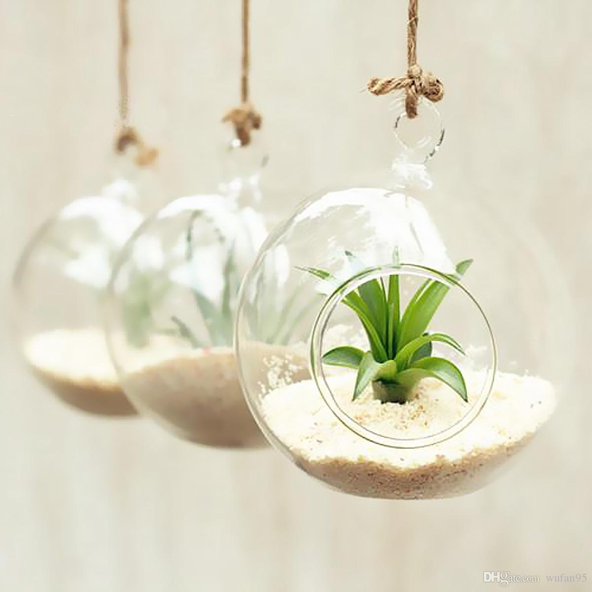 Crystal hanging planter vase clear glass terrarium round ball crystal hanging planter vase clear glass terrarium round ball flower diameter 10cm 4 inch home office reviewsmspy