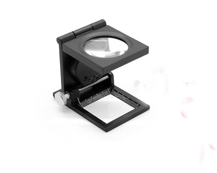 HOT new TH-9005A Portable 28.8mm 8X Magnifier with White 2-LED Light Hot Rising stars +leather case+box