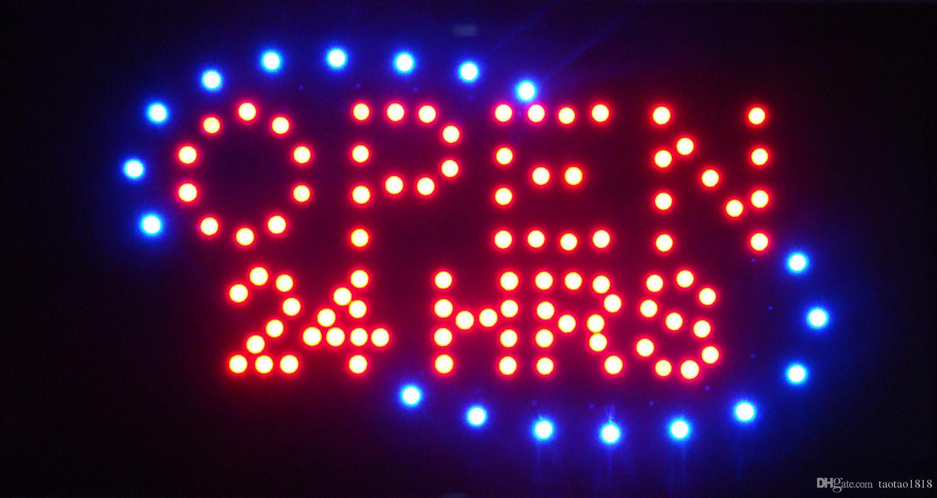 2016 heißer verkauf low power 10 * 19 zoll semi-outdoor led bewegliche zeichen für 24 stunden geöffnetes geschäft