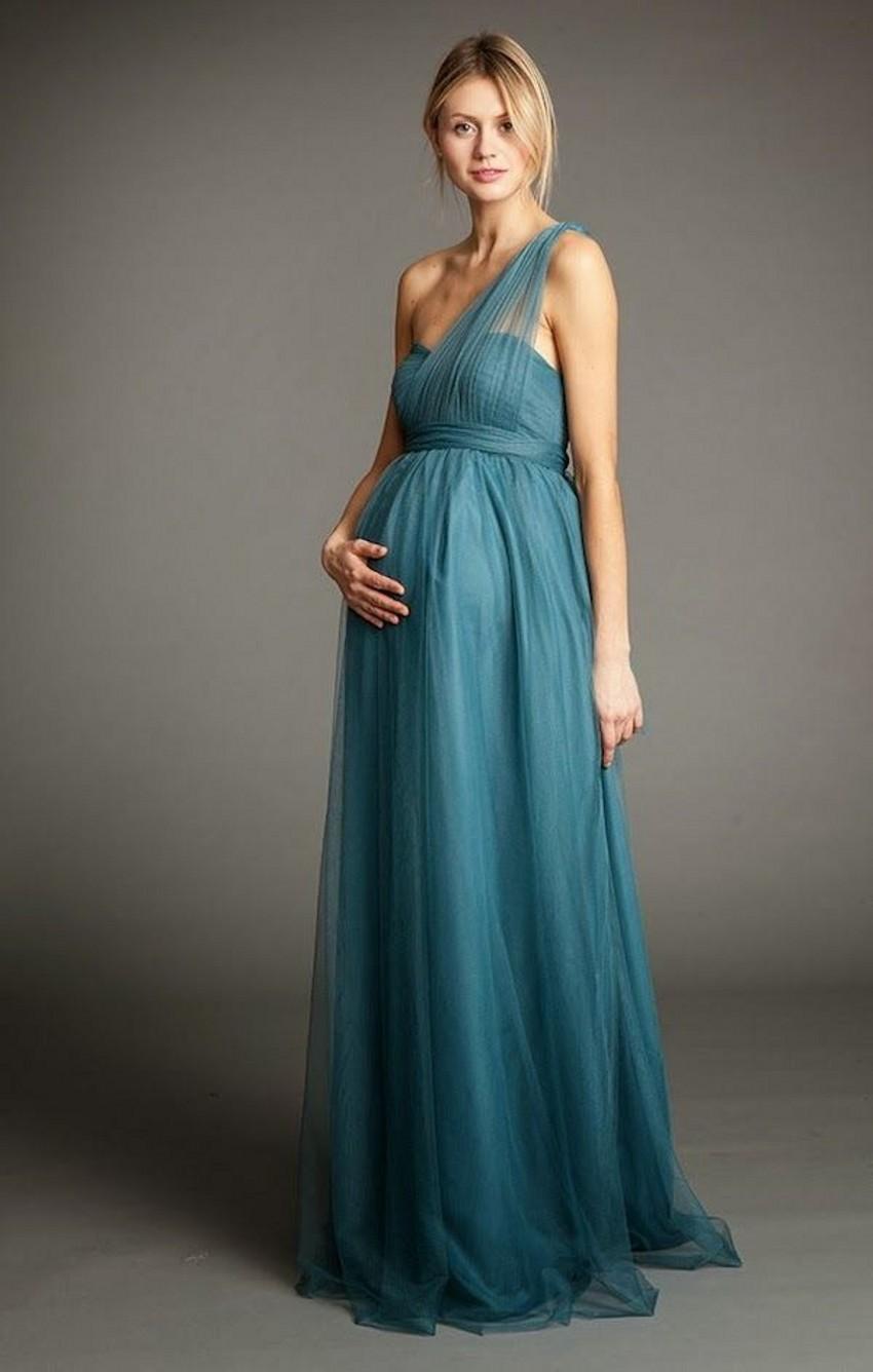 Long Maternity Bridesmaid Dresses Cheap Purple Color A Line Empire ...