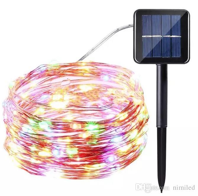 100-LEDs 200-LEDs 300-LEDs LED Solar String Light 10M 20M 30M Multi-Color RGB/Blue/Red/Green/Pink/Purple/Warm/Cool LED Flash Strings LLFA