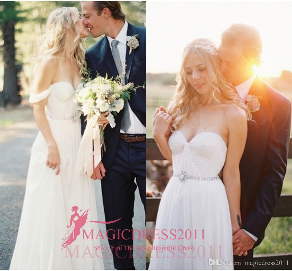 A Line Пляжные свадебные платья с открытой спиной и съемным шлейфом Свадебные платья-фуршеты 2019 года возлюбленной Свадебные платья Novia Плюс Размеры на заказ
