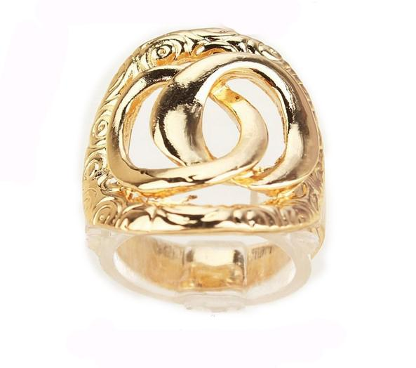 Free Shipping 18k Gold Filled Birthday/Valentine's Gift Ring Jewelry For Women/Men Size 8.5