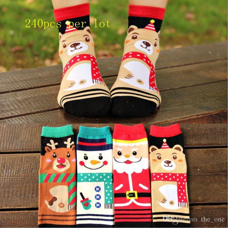 горячие 2015 рождественские носки симпатичные осень зима южно-корейский стиль мода хлопок Рождество снег мужчины панды носки