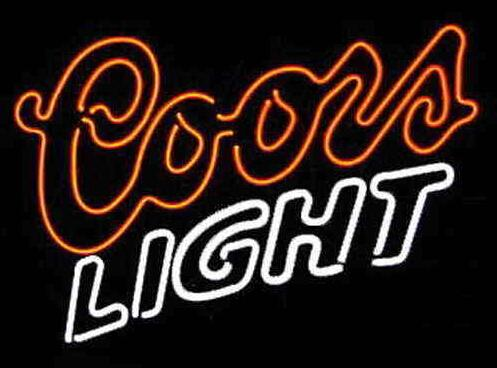 "2016 Coors Light Neon Sign Commercial Handcrafted Custom Real Glass Tube Neon Beer Bar KTV Club Pub Advertising Display Neon Signs 17""X14"""