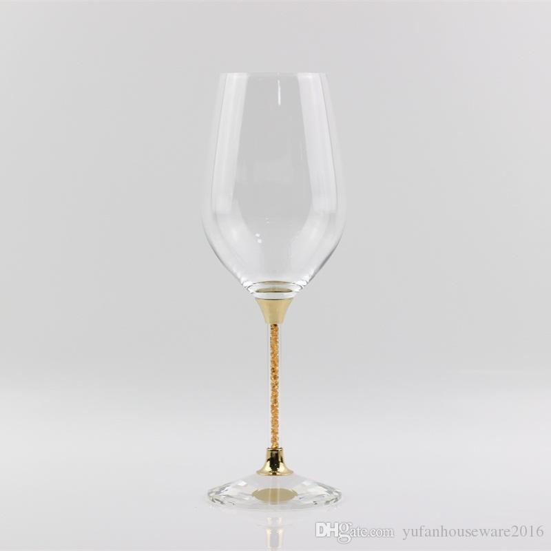 crystal wedding glasses set gold stemware toasting wine goblet home and bar use drinking glass cup celebration best gifts