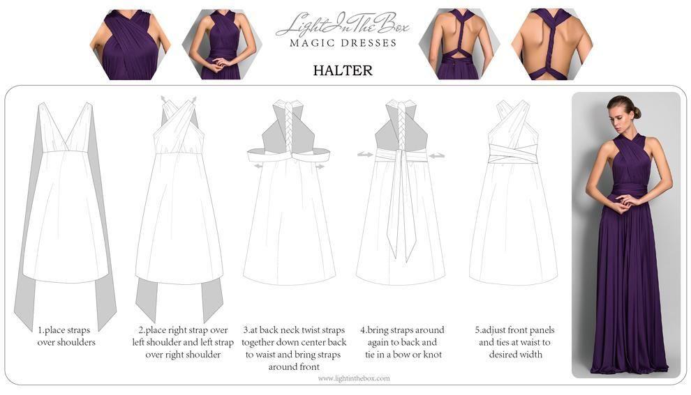 V neckline bridesmaid dresses