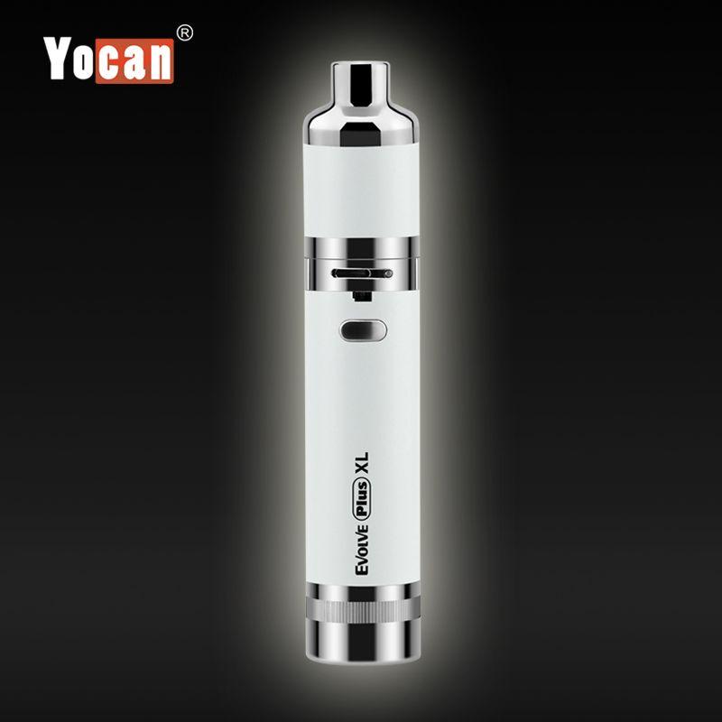 100% originale Yocan Evolve plus XL Starter Kit cera vaporizzatore 1400mAh Dab Penna vaporizzatore Kit con Silicon Jar Quad Quarzo Rod Coil