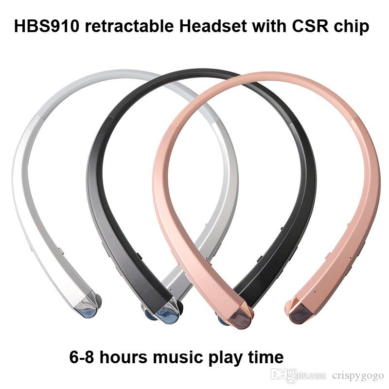 HBS910 Headset Earphone Sports Wireless Bluetooth 4.1 CSR Headphone Best Quality For iphone 7 plus s8 edge hbs910 900 913 800 with package