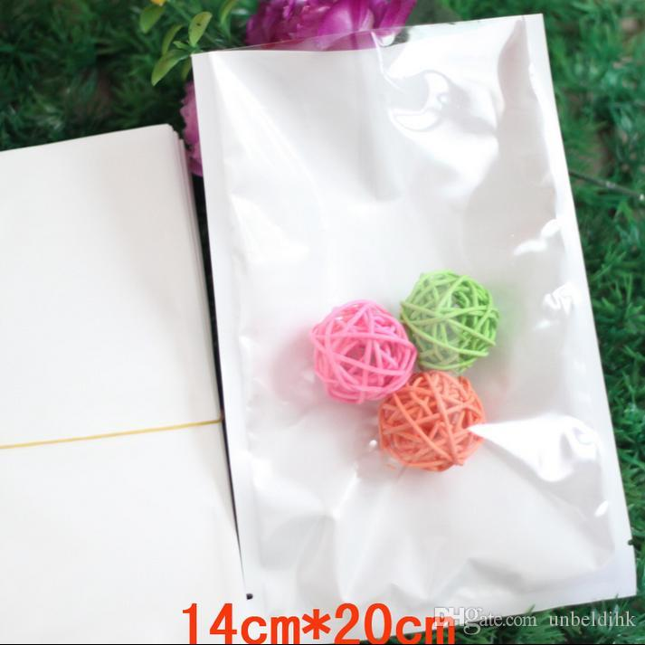 Ücretsiz kargo 14 * 20 cm 100 adet ücretsiz kargo temizle + beyaz Üst Açıldı Isı-sızdırmazlık plasticBag bisküvi aperatif pişirme Nem geçirmez paket