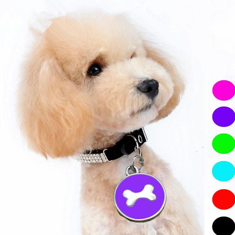 12pcs/lot High quality Zin Alloy card Pet Dogs Cats Tag Collar Metal Anti Lose Puppy Cat pet id tags dog cat tag dog