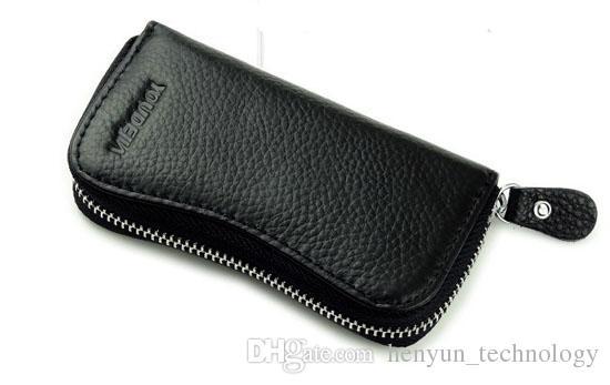 純正3色牛レザー車のキーホルダーユニセックスキー財布コイン財布