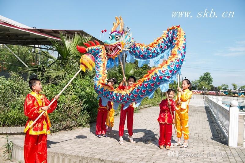 Fun kids size dragon bambini diversi tessuto di seta stampa CINESE Kid DRAGON DANCE Folk Festival Celebration Costume party costume