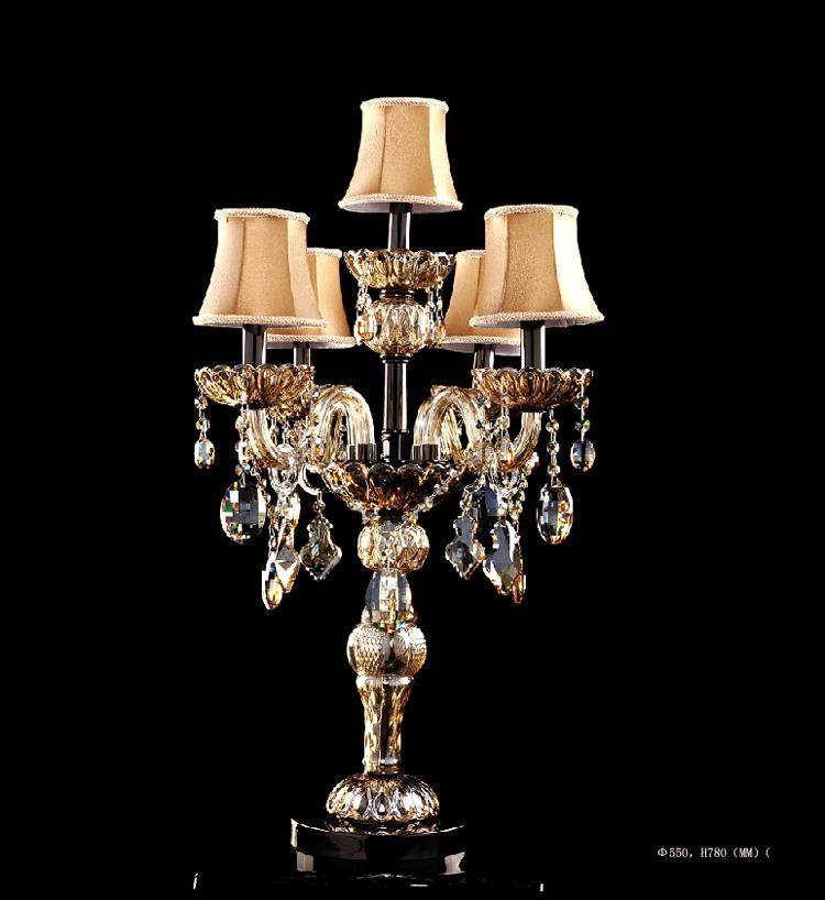 2019 Modern Table Lamps For Bedroom Crystal Table Lamp With Fabric Shade  LED Table Lighting For Living Room 5 Lights Dest Lamp For Wedding Room From  ...
