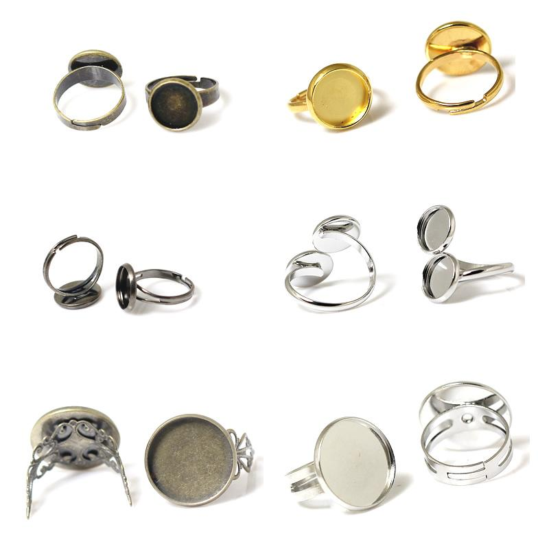 Beadsnice fashion jewelry bezel ring setting diy ring blank findings adjustable ring base accessories for jewelry handmade ID 32250