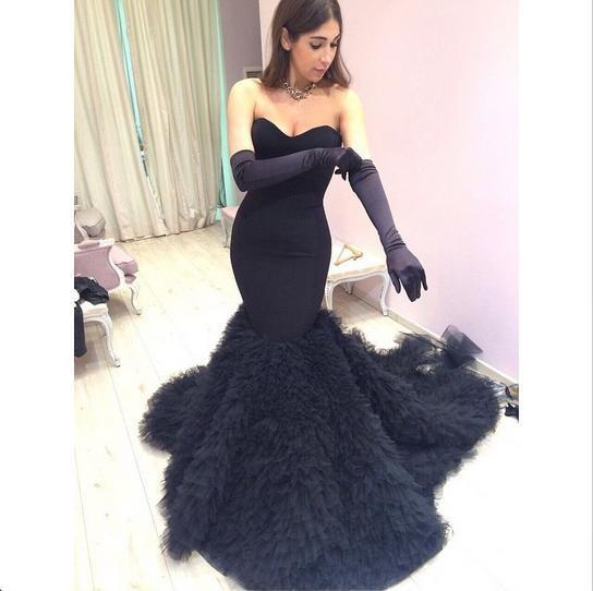 Prom Dresses with Gloves